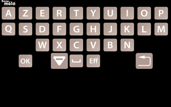 Clavier AZERTY de la tablette MELOCONNECT